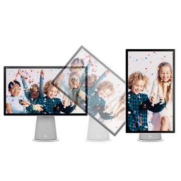 Новый домашний социальный центр, 21,5-дюймовый настольный компьютер HP Chromebase All-in-One - это первое в мире устройство Chromebase All-in-One с вращающимся дисплеем 3 для улучшения работы в Интернете.